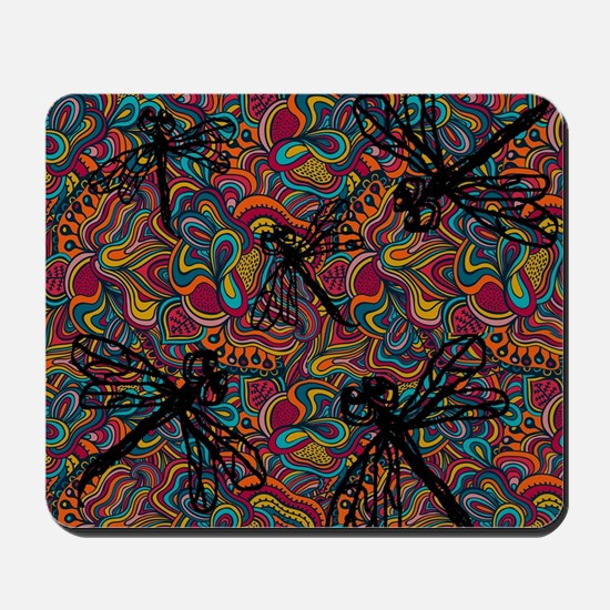 Hippy Dragonfly Flit Mousepad