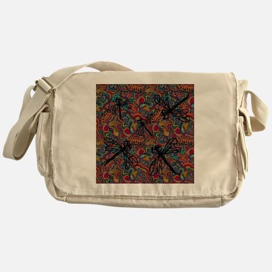 Hippy Dragonfly Flit Messenger Bag