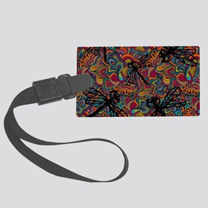 Hippy Dragonfly Flit Large Luggage Tag