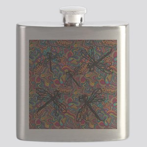 Hippy Dragonfly Flit Flask