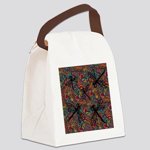 Hippy Dragonfly Flit Canvas Lunch Bag