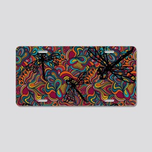 Hippy Dragonfly Flit Aluminum License Plate