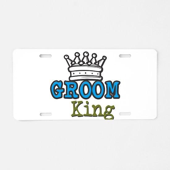 Groom King Aluminum License Plate