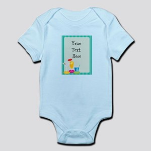 Cocktail Border Infant Bodysuit