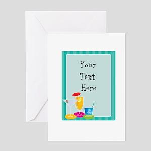 Cocktail Border Greeting Card