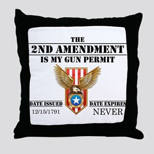 My Permit Throw Pillow