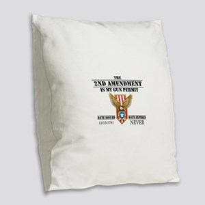 My Permit Burlap Throw Pillow