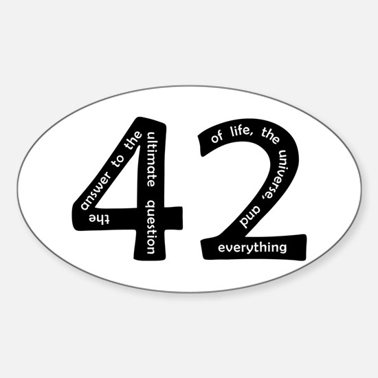 42 Sticker (Oval)