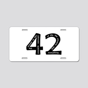 42 Aluminum License Plate