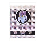 Iris And Butterflies Postcards (package Of 8)