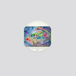 Tropical, Fish, bright, art, Mini Button