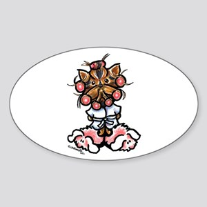 High Maintenance Yorkie Sticker (Oval)