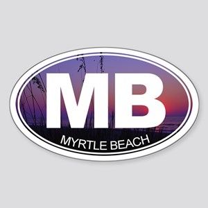 MB - Myrtle Beach - Sticker (Oval)