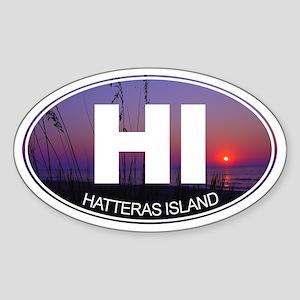 Hatteras Island - Sticker (Oval)