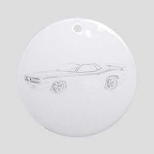 1970 Plymouth Barracuda Ornament (Round)