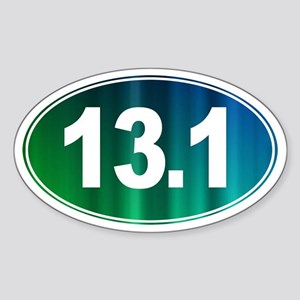 13.1 - Half Marathon - Sticker (Oval)