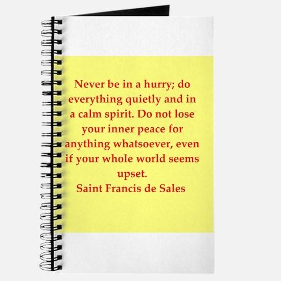 Cute St francis de sales Journal