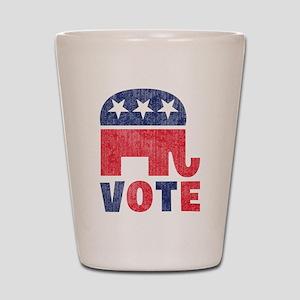 Republican Vote 2 Shot Glass