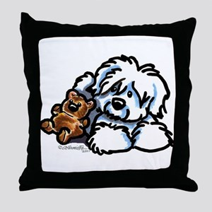Coton Teddy Throw Pillow