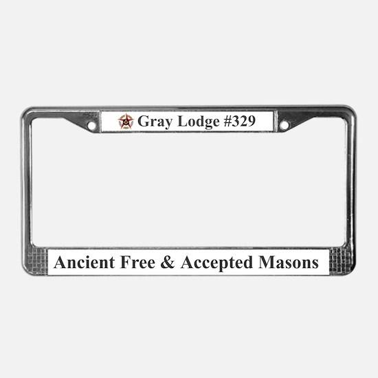 Gray Lodge License Plate Frame