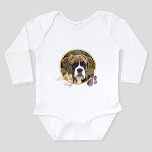 Boxer Dog Long Sleeve Infant Bodysuit
