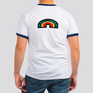 RAINBOW FURRY STRIPES Ringer T