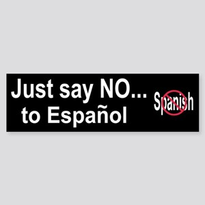 No Spanish Bumper Sticker