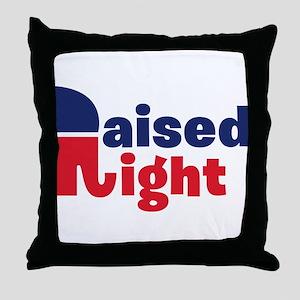 Raised Right Throw Pillow