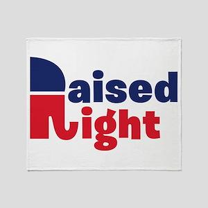Raised Right Throw Blanket