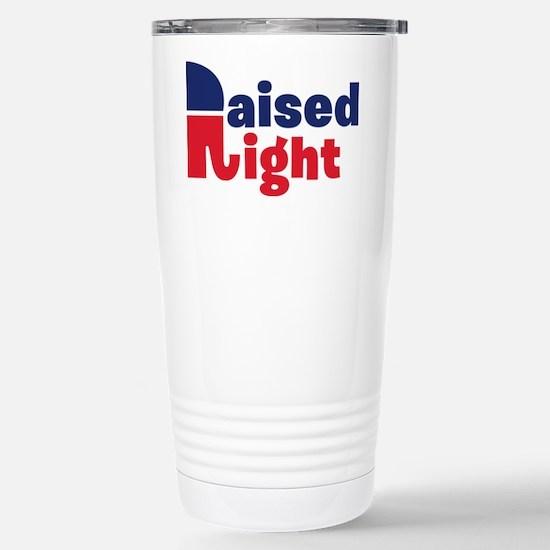 Raised Right Stainless Steel Travel Mug