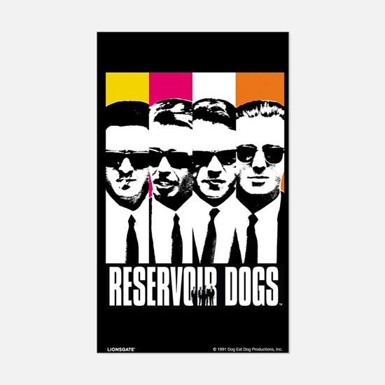 Reservoir Dogs DVD Cover Style Decal