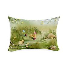 Easter Landscape Rectangular Throw Pillow