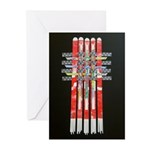 Woven Banner Greeting Cards (20)