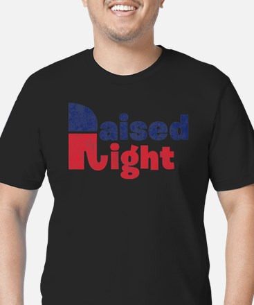 Raised Right 2 Men's Fitted T-Shirt (dark)