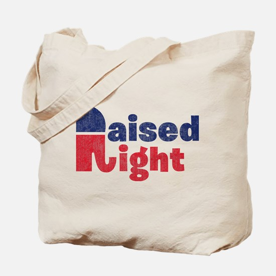 Raised Right 2 Tote Bag