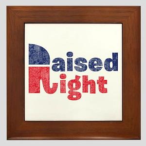 Raised Right 2 Framed Tile