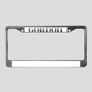 Gordon Carved Metal License Plate Frame