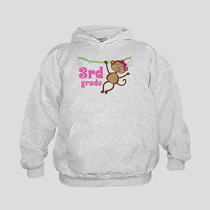 Cute 3rd Grade Monkey Gift Kids Hoodie