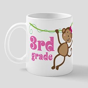 Cute 3rd Grade Monkey Gift Mug