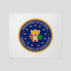 FBI - Department Of Alcohol Throw Blanket