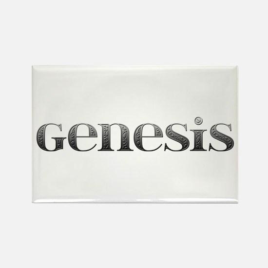 Genesis Carved Metal Rectangle Magnet