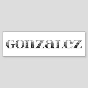 Gonzalez Carved Metal Bumper Sticker