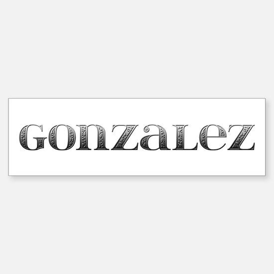 Gonzalez Carved Metal Bumper Bumper Bumper Sticker