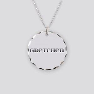 Gretchen Carved Metal Necklace Circle Charm