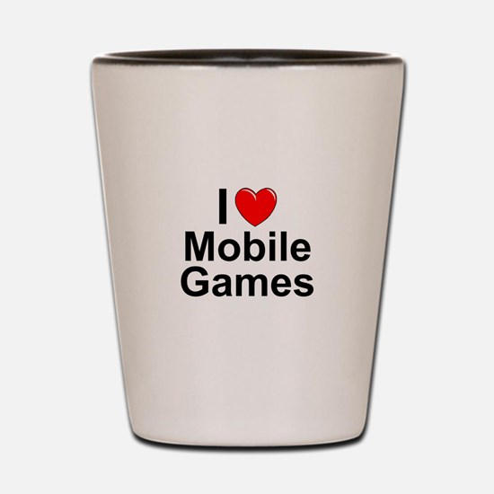 Mobile Games Shot Glass