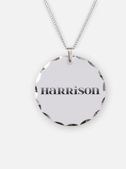 Harrison Carved Metal Necklace