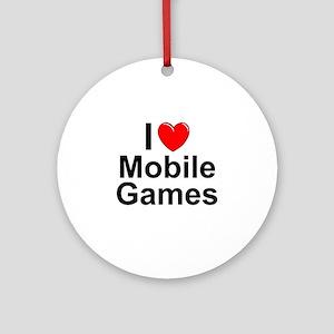 Mobile Games Round Ornament