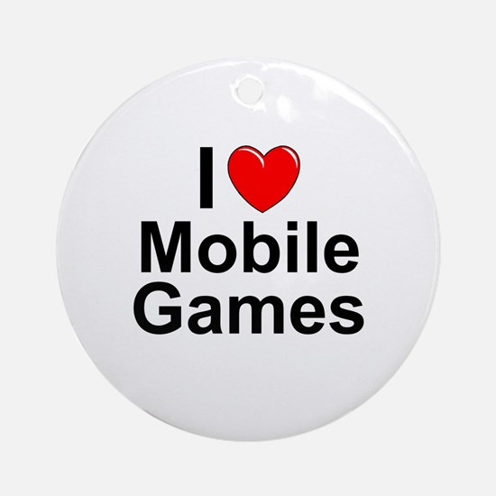 Mobile Games Round Ornament