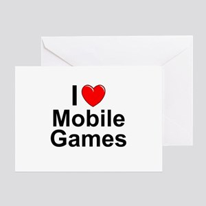 Mobile Games Greeting Card