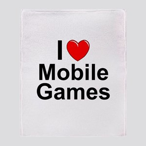 Mobile Games Throw Blanket